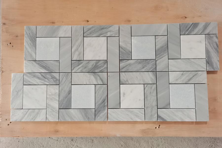 Bardiglio Carrara & Carrara White