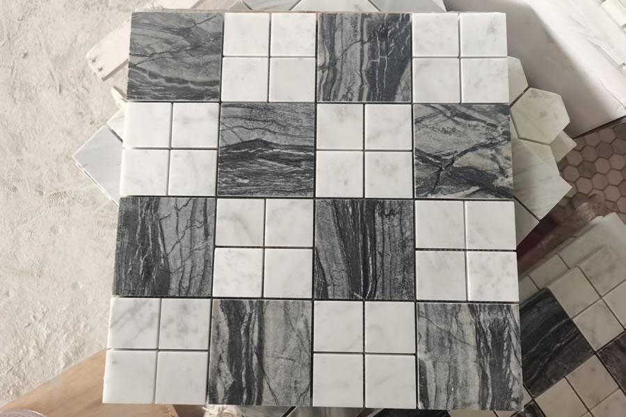 Zebra Black & Carrara White